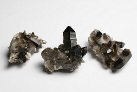 アーカンソー州産水晶クラスター(ブラックカラー 放射線処理)