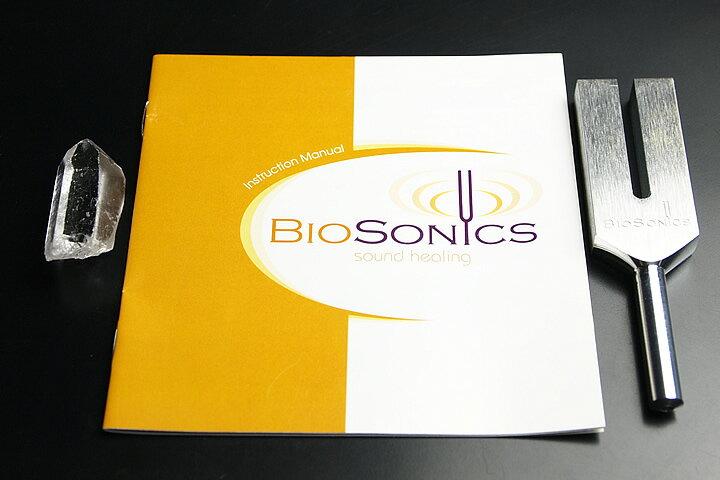 ネコポス対応!業界最安値に挑戦中!クリスタルチューナーBIOSONICS社製 音叉水晶2Aポイント付きセット 和訳説明書付き!