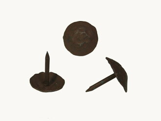 Antique decorative tacks round iron and nail is the diameter of 20 mm (last) * one by one. Under furniture for door decoration for [Metal hardware studs screw hidden rust black leather wind] [DIY renovation remake]