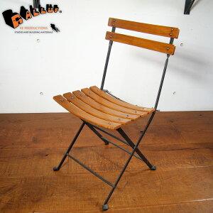 ハンドルアップ・シリーズ・フォールディング・チェア[送料区分2]【木製 チーク 古材 アイアン 折りたたみ椅子 1人掛け 折り畳み 安全 屋外 屋内 アウトドア】