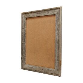 バーン・ウッド・フレーム 18×24インチ※ガラスと壁掛けフックは別売です。※送料無料対象外【送料区分2】【額縁 木製 フレーム 写真 ポスター グレー 古材 リビング ウェルカムボード おしゃれ】