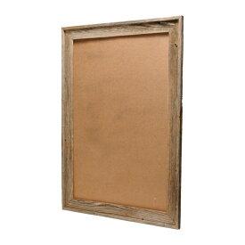 バーン・ウッド・フレーム 24×36インチ※ガラスと壁掛けフックは別売です。※送料無料対象外【送料区分2】【額縁 木製 フレーム 写真 ポスター グレー 古材 リビング ウェルカムボード おしゃれ】
