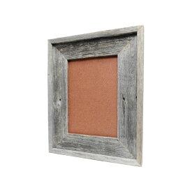 バーン・ウッド・フレーム B5サイズ※ガラスと壁掛けフックは別売です。【額縁 木製 フレーム 写真 ポスター イラスト グレー 古材 アンティーク リビング ディスプレイ ウェルカムボード おしゃれ】