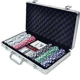 iimono117 ポーカーセット チップ300枚 アルミケース入り 本格派 カジノゲーム ポーカー テーブルゲーム 大人用 ゲーム ホームパーティ お家時間