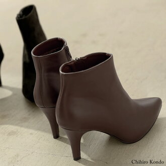 Size cushion booties [2017 new works in the fall and winter] which an advance reservation sale bootie S/M/L/LL/3L size pointed toe bootie Lady's / bootie pointed toe beauty leg side zip has a big