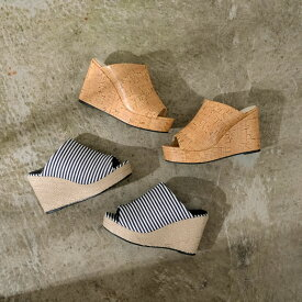 夏の足もとを爽やかに飾る美脚サンダルS-3Lサイズ ジュートウェッジソールサボサンダル レディース/サボサンダル サンダル ウェッジソール ウエッジソール ウエッジサンダル