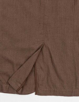 ≪6月15日発売≫羽織るだけでこなれ感たっぷりなルーズシルエットM/Lサイズsoftリネン半袖シャツジャケットレディーストップスライトアウターリネン混レーヨン混麻レーヨンゆったりポケット付セットアップ[2019夏新作]