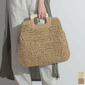 【残りわずかの少量アイテム】天然素材のナチュラルバッグでシーズンムードを高めて フリーサイズ スクエアハンドル雑材ネットバッグ レディース/ハンドバッグ かごバッグ バッグ ナチュラル 天然素材 お出掛け リゾート