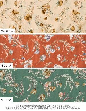 ≪3月10日発売≫ディテールが嬉しい。ドラマチックな大人の花柄ワンピースSC-Lサイズ[低身長向け/高身長向けサイズ対応]花柄フリルボリュームワンピースレディース/花柄ワンピースロングワンピース春色春カラー[2020春新作]