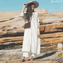 ナチュラルな色と風合いが魅力のシャツワンピースが登場 C/M/Lサイズ [低身長向けSサイズ対応] リネンブレンドロング…