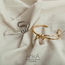 異素材の組み合わせで新たな魅力をフリーサイズ [AnkA moore(アンカムーア)]マットグロスコードバングル レディース/ギフト 誕生日 記念日[AnkA moore]