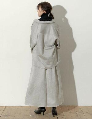 ≪9月12日発売≫さらっと羽織って抜け感をプラスフリーサイズ[お家で洗える]カットスウェードシャツCPOジャケットレディース/オーバーサイズビッグシルエット[2020年秋冬新作]