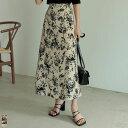 ≪8月3日待望の再販≫SC/M/MT/Lサイズ [低身長/高身長サイズ有]デシン花柄ナロースカート レディース / スカート ナロ…