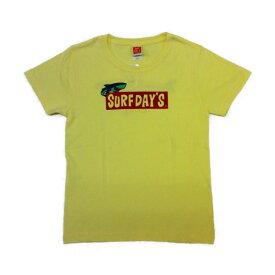 サーフデイズ Tシャツ レディース 半袖 2018新作 ロゴ シャーク 全3色 レディースM-L 送料無料
