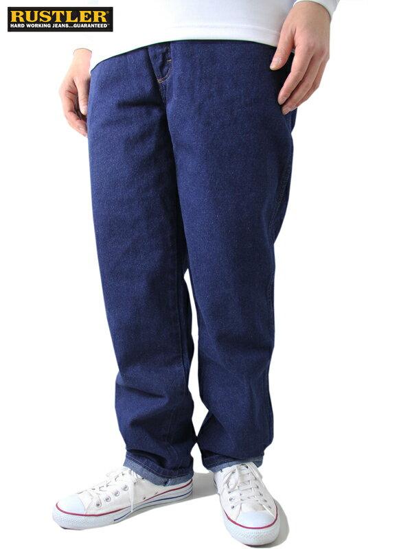 【US限定モデル/あす楽】RUSTLER ルスター ラングラー デニムパンツ ジーンズ ワークデニム レギュラーフィット インディゴ ブルー 大きいサイズ REGULER FIT DENIM JEANS PANTS blue