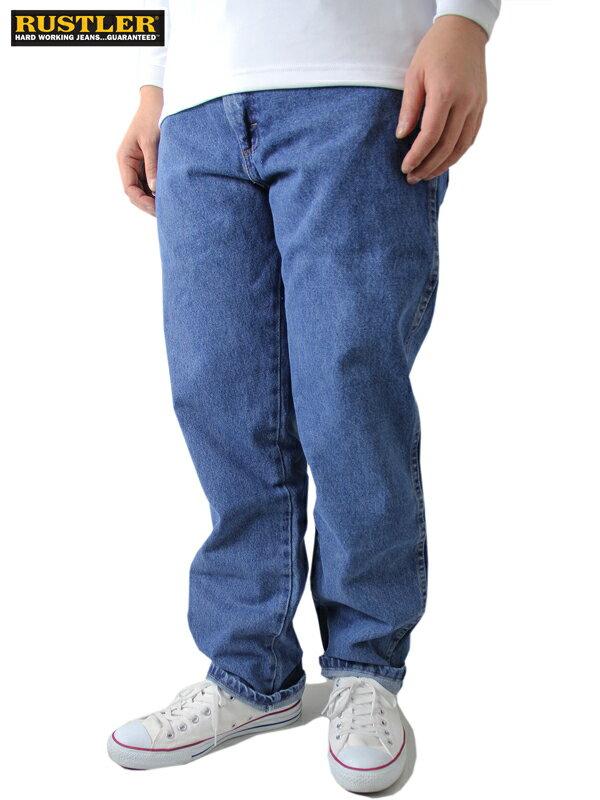 【US限定モデル/あす楽】RUSTLER ルスター ラングラー デニムパンツ ジーンズ ワークデニム レギュラーフィット インディゴ ライトブルー 大きいサイズ REGULER FIT DENIM JEANS PANTS lt blue