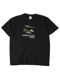 【インポート/あす楽】Guadalajara MEXICO S/S TEE black2 Tシャツ グアダラハラ メキシコ 刺繍 大きいサイズ ビッグT ブラック2