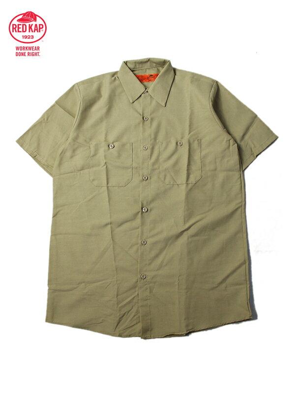 【あす楽】RED KAP レッドキャップ ワークシャツ 半袖 薄手 4.5オンス 無地 カーキ サンド ベージュ S/S WORK SHIRTS khaki beige sand