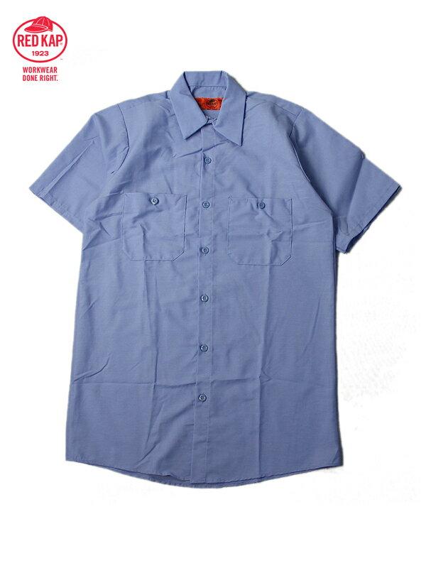【あす楽】RED KAP レッドキャップ ワークシャツ 半袖 薄手 4.5オンス 無地 ライトブルー S/S WORK SHIRTS lt blue