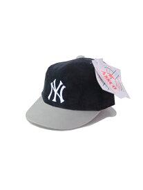 ベビーサイズ【デッドストック/ビンテージ】ニューヨークヤンキース コーデュロイ キャップ 帽子 ANNCO New York YANKEES CAP navy/gray