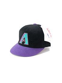 ベビーサイズ【デッドストック/ビンテージ】ダイアモンドバックス コーデュロイ キャップ 帽子 ANNCO DIAMOND BACKS black/purple