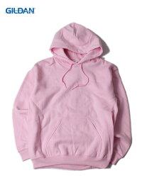 【即納】GILDAN ギルダン プルオーバー ビッグパーカー フード プレーン 無地 裏起毛 ワイド 大きいサイズ ライトピンク 8.0oz PLAIN PULLOVER HOODIE light pink