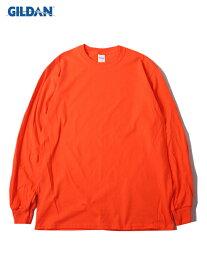 【USモデル/即納】GILDAN ギルダン ロンT ロングスリーブ ウルトラコットン 無地 プレーン オレンジ 6.0oz LONG SLEEVE T-SHIRTS orange