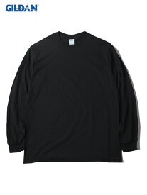 【USモデル/即納】GILDAN ギルダン ロンT ロングスリーブ ウルトラコットン 無地 プレーン ブラック 黒 6.0oz LONG SLEEVE T-SHIRTS black