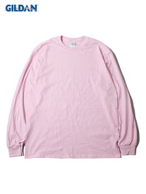 【USモデル/即納】GILDAN ギルダン ロンT ロングスリーブ ウルトラコットン 無地 プレーン ライト ピンク 6.0oz LONG SLEEVE T-SHIRTS light pink