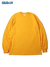 【USモデル/即納】GILDAN ギルダン ロンT ロングスリーブ ウルトラコットン 無地 プレーン ゴールド イエロー 6.0oz LONG SLEEVE T-SHIRTS gold yellow