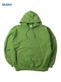 【即納】GILDAN ギルダン プルオーバー パーカー フード プレーン 無地 キウィグリーン 8.0oz PLAIN PULLOVER HOODIE kiwi green