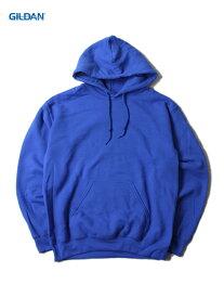 【即納】GILDAN ギルダン プルオーバーパーカー フード プレーン 無地 裏起毛 ワイド ビッグパーカー 青 ロイヤルブルー 8.0oz PLAIN PULLOVER HOODIE royal blue