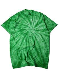【USモデル/即納】タイダイTシャツ サイクロン スパイラル ケリーグリーン 緑 TIEDYE CYCLONE S/S TEE kelly green