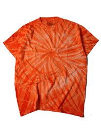 【USモデル/即納】タイダイTシャツ サイクロン スパイラル オレンジ TIEDYE CYCLONE S/S TEE orange