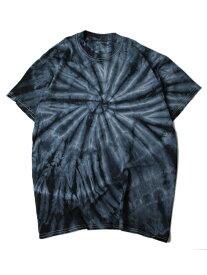 【USモデル/即納】タイダイTシャツ サイクロン スパイラル 黒 ブラック TIEDYE CYCLONE S/S TEE black
