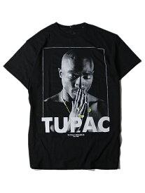 【インポート/あす楽】 2PAC PHOTO S/S TEE black/gold ツーパック フォト Tシャツ ブラック/ゴールド