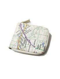【インポート】NYC SUBWAY LINE NEW YORK CITY SUBWAY MAP ZIP WALLET beige ニューヨーク サブウェイ マップ ジップ ウォレット 財布 ベージュ