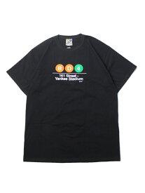 【インポート】NYC SUBWAY LINE YANKEE STADIUM SUBWAY SHORTSLEEVE TEE black ヤンキー スタジアム サブウェイ 半袖Tシャツ ブラック
