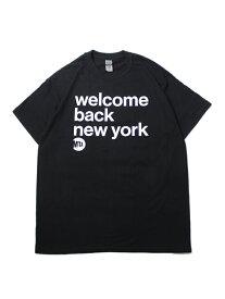 """【インポート】MTA SUBWAY """"WELCOME BACK NEW YORK""""LOGO SHORT SLEEVE TEE black サブウェイ ウェルカム バック ニューヨーク ロゴ 半袖 Tシャツ ブラック"""