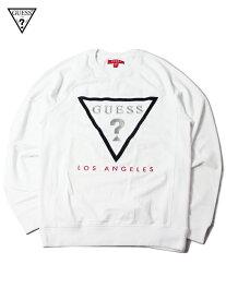 【インポート正規品】GUESS LOS ANGELES LOGO CREW NECK SWEAT white ゲス ロサンゼルス ロゴ クルーネック スウェット ホワイト