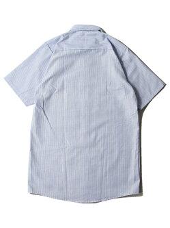 REDKAPレッドキャップ半袖ワークシャツストライプブルーホワイトSTRIPES/SWORKSHIRTSbluewhite