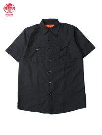 RED KAP レッドキャップ 半袖 ワークシャツ 無地 ブラック S/S WORK SHIRTS black