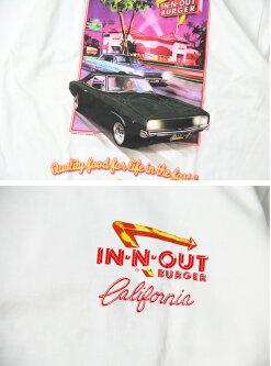 【インポート】IN-N-OUTCALIFORNIAA5TEEwhiteインアンドアウトハンバーガーショッププリントTシャツ大きいサイズホワイト白