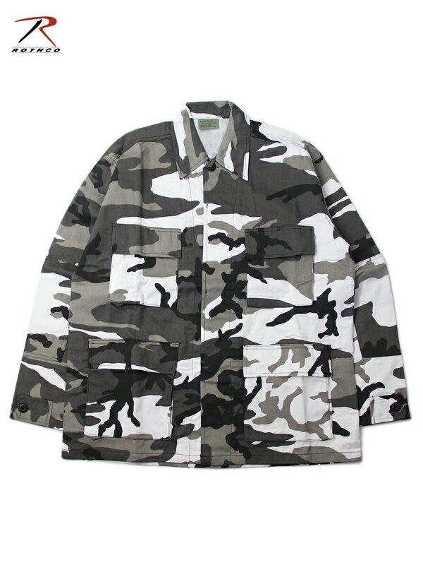 【インポート】ROTHCO ロスコ BDU シャツジャケット 迷彩柄 カモフラージュ シティーカモ Camo BDU Shirt city camo 8881
