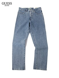 【US買い付け正規品】GUESS JEANS 90年代ビンテージ デニムパンツ ライトブルー SLIM STRAIGHT FIT DENIM PANTS light blue