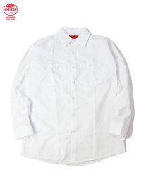 RED KAP レッドキャップ 長袖 ワークシャツ 無地 ホワイト L/S WORK SHIRTS white