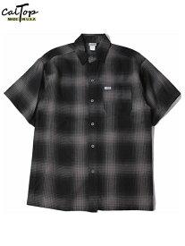 Cal Top キャルトップ チェック ショートスリーブ シャツ 半袖 ブラック/チャコール CHECK SHORT SLEEVE SHIRT black/charcoal