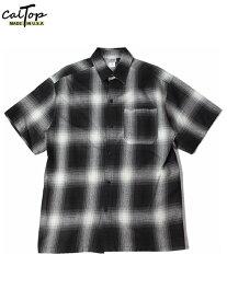 Cal Top キャルトップ チェック ショートスリーブ シャツ 半袖 ブラック/アイボリー CHECK SHORT SLEEVE SHIRT black/ivory