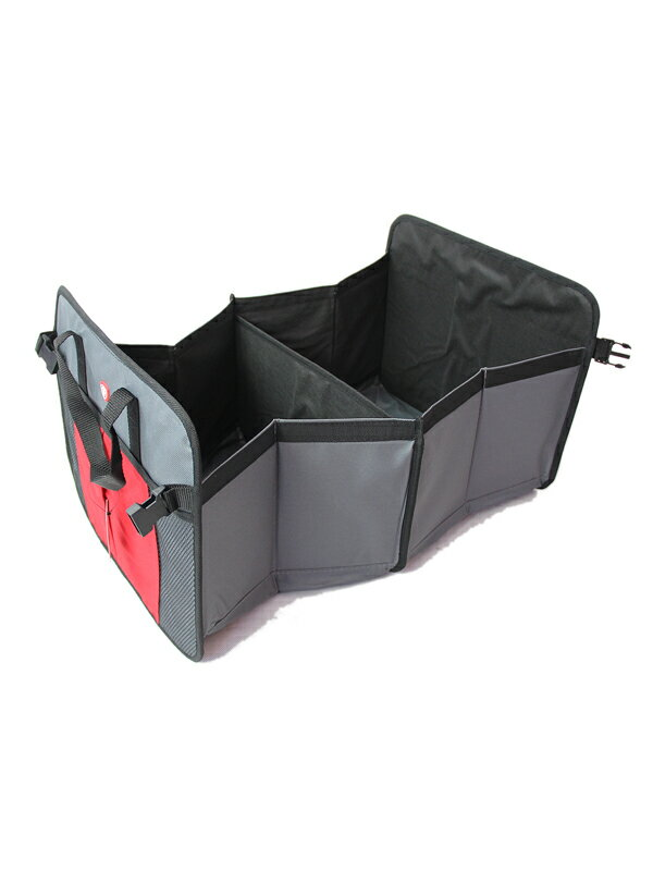 【US買い付け品】トランクオーガナイザー 収納 カー用品 コンパクト FIRESTONE TRUNK ORGANIZER gray/red