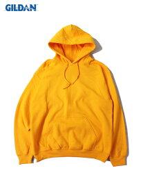 【USモデル】 GILDAN 8oz PLAIN PULLOVER PARKA HOODIE gold yellow ギルダン 8オンス プルオーバー パーカー フード プレーン 無地 ゴールド イエロー